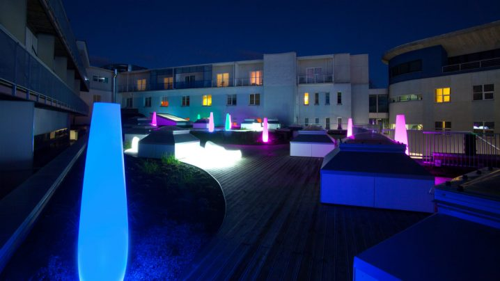 Water center roof terrace at night | Viiking Spa Hotel | Spa in Pärnu
