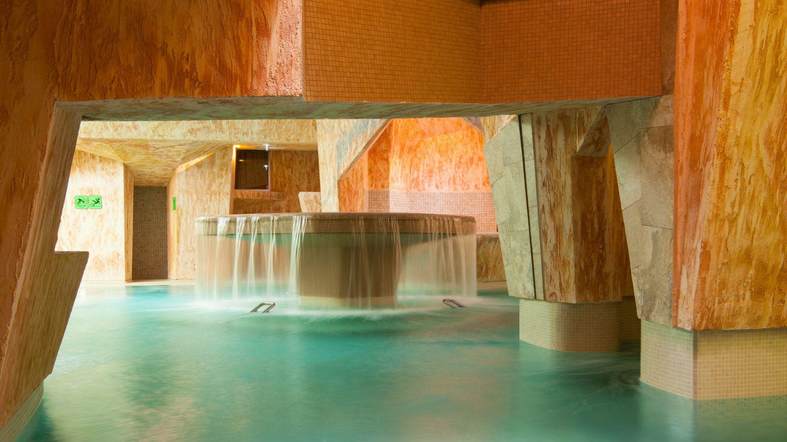 Caves in the water and sauna center
