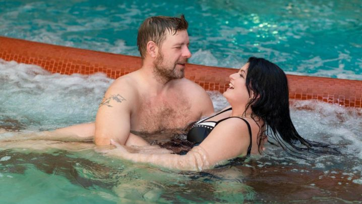 Couple in the water center | Viiking Spa Hotel | Water center in Pärnu